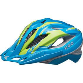 KED Street Pro Helmet Junior Blue Green Matt